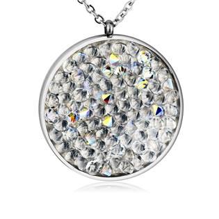 Ocelový náhrdelník s krystaly Crystals from Swarovski®, CRYSTAL AB