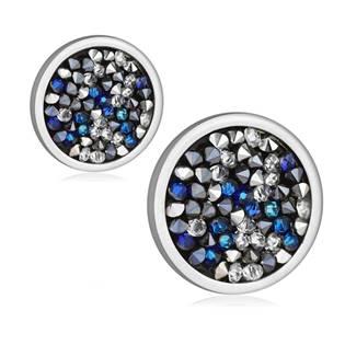 Ocelové náušnice s krystaly Crystals from Swarovski® BERMUDA BLUE PEPPER