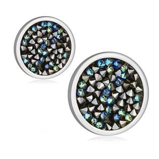 Ocelové náušnice s krystaly Crystals from Swarovski®, BLUELIZED