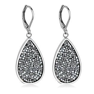 Ocelové náušnice s krystaly Crystals from Swarovski®, CRYSTAL CAL