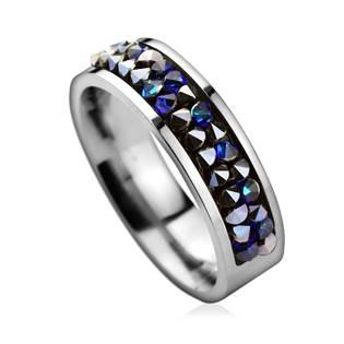 Ocelový prsten s krystaly Crystals from Swarovski®, BERMUDA BLUE