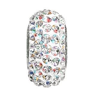 Navlékací přívěšek korálek SLIM s krystaly Swarovski®, CRYSTAL AB
