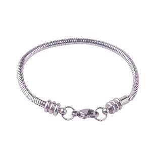 Ocelový náramek - had, délka 19 cm