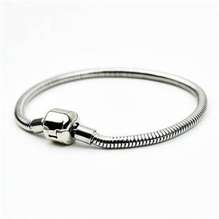 Ocelový náramek - had, délka 21 cm