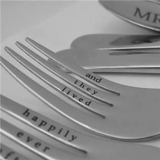 Svatební příbor - nůž s rytinou (1ks)
