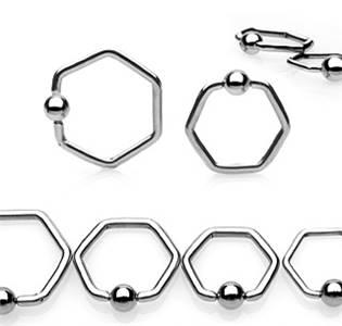 Piercing - kruh šestihranný