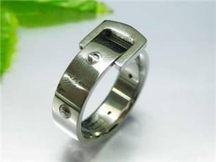 Ocelový prsten - pásek