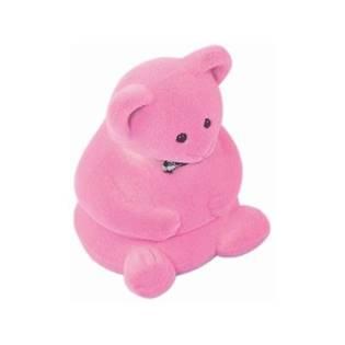 Dárková krabička semiš - medvídek růžový