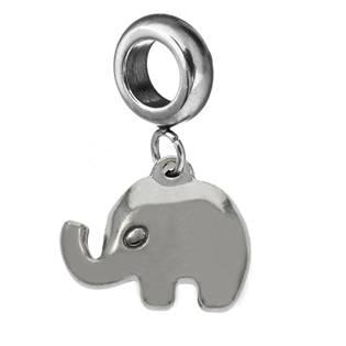 Navlékací ocelový korálek s přívěškem slon