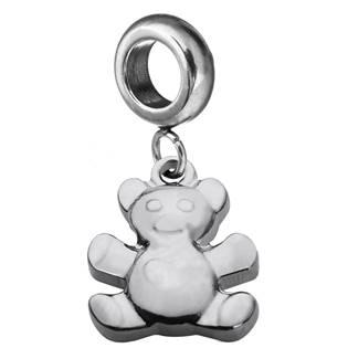 Navlékací ocelový korálek s přívěškem medvídek