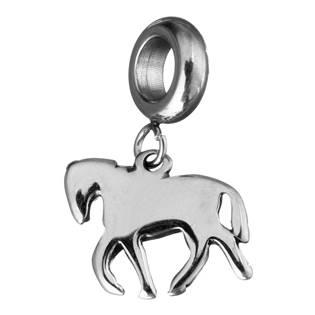Navlékací ocelový korálek s přívěškem kůň