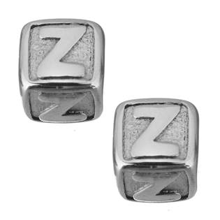 """Navlékací ocelový přívěšek korálek - písmeno """"Z"""""""