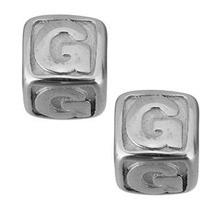 """Navlékací ocelový přívěšek korálek - písmeno """"G"""""""