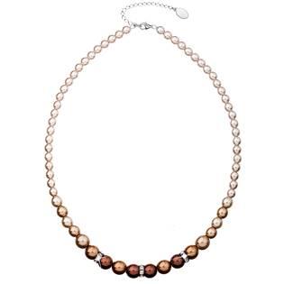 Hnědý perlový náhrdelník Crystals from Swarovski®