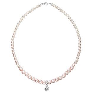 Růžový perlový náhrdelník Crystals from Swarovski®