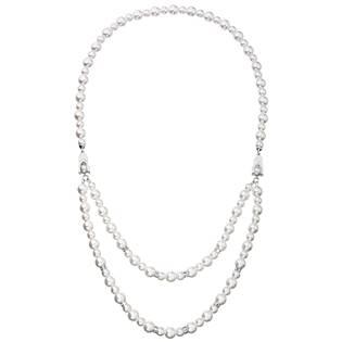 Dvojitý perlový náhrdelník Crystals from Swarovski®