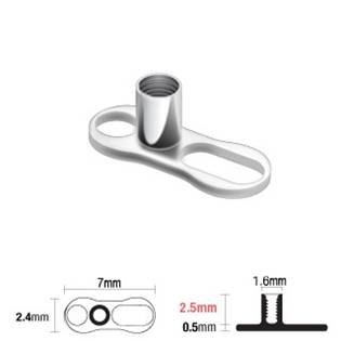 Microdermal base - kotva, výška 2,5 mm