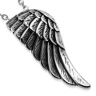Ocelový přívěšek - andělské křídlo