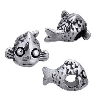 Navlékací ocelový přívěšek korálek - ryba