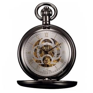5660babfb71 Černé mechanické kapesní hodinky v dárkovém balení empty