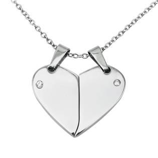 Partnerský přívěšek srdce dělené - 2 kusy