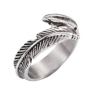 Dámský ocelový prsten - peříčko