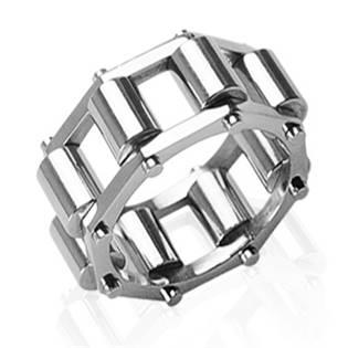 Ocelový prsten pánský - ložiskový