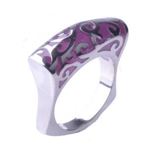 Ocelový prsten s ornamenty OPR1036