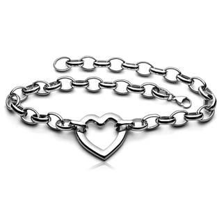 Ocelový náhrdelník se srdíčkem