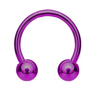 Piercing podkova, barva fialová