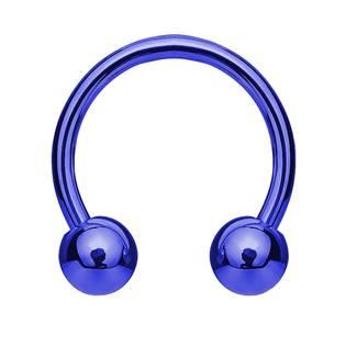 Piercing podkova, barva modrá