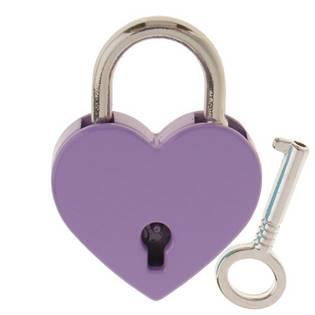 Zámeček lásky - srdíčko fialové, rozměr 39 x 30 mm