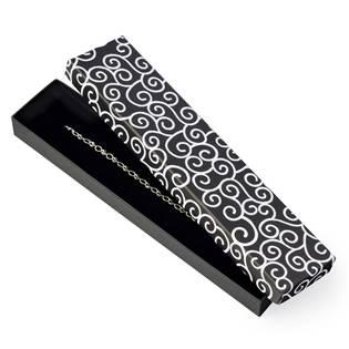 Dárková krabička na náramek, černá s ornamenty