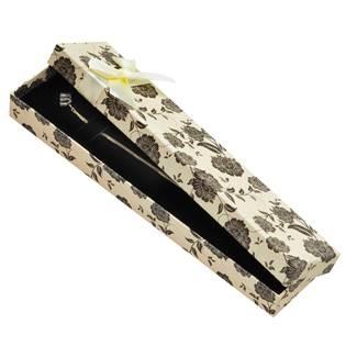 Krémová/černá dárková krabička na náramek
