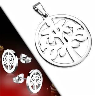 Souprava šperků z chirurgické oceli strom života
