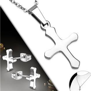 Souprava šperků z chirurgické oceli křížky