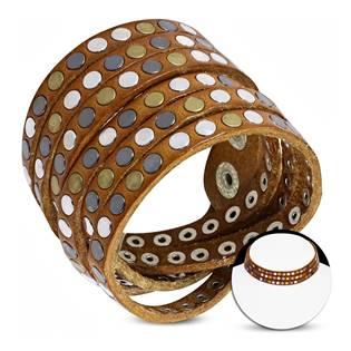 Kožený náramek/náhrdelník s cvočky