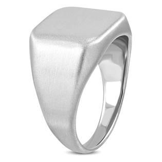 Pečetní ocelový prsten matný