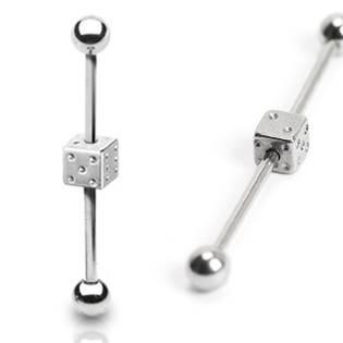 Industrial piercing - hrací kostka