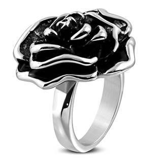 868fa3cc8 Ocelové šperky   Masivní ocelový prsten - růže   Levné ocelové šperky
