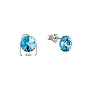 Náušnice bižuterie se Swarovski krystaly, Aqua