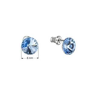 Náušnice bižuterie se Swarovski krystaly, Light Sapphire