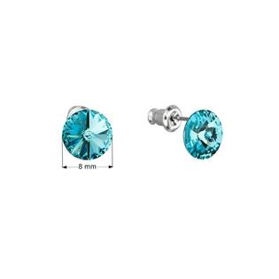 Náušnice bižuterie se Swarovski krystaly, Turquoise
