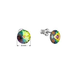 Náušnice bižuterie se Swarovski krystaly, Vitrail Medium