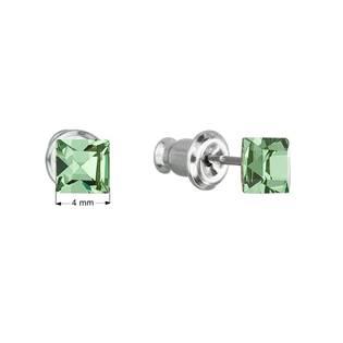 Náušnice bižuterie se Swarovski krystaly, Peridot