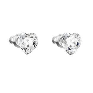 Náušnice bižuterie se Swarovski krystaly srdce, Crystal