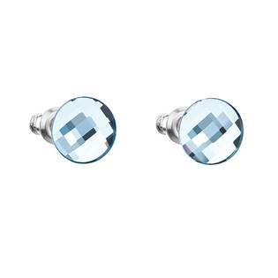 Náušnice bižuterie se Swarovski krystaly kulaté , Aqua