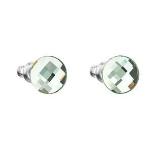 Náušnice bižuterie se Swarovski krystaly kulaté, Peridot