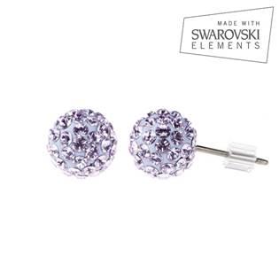 Titanové náušnice s krystaly Swarovski®, Violet