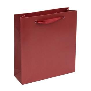 Malá dárková taška perleťově červená